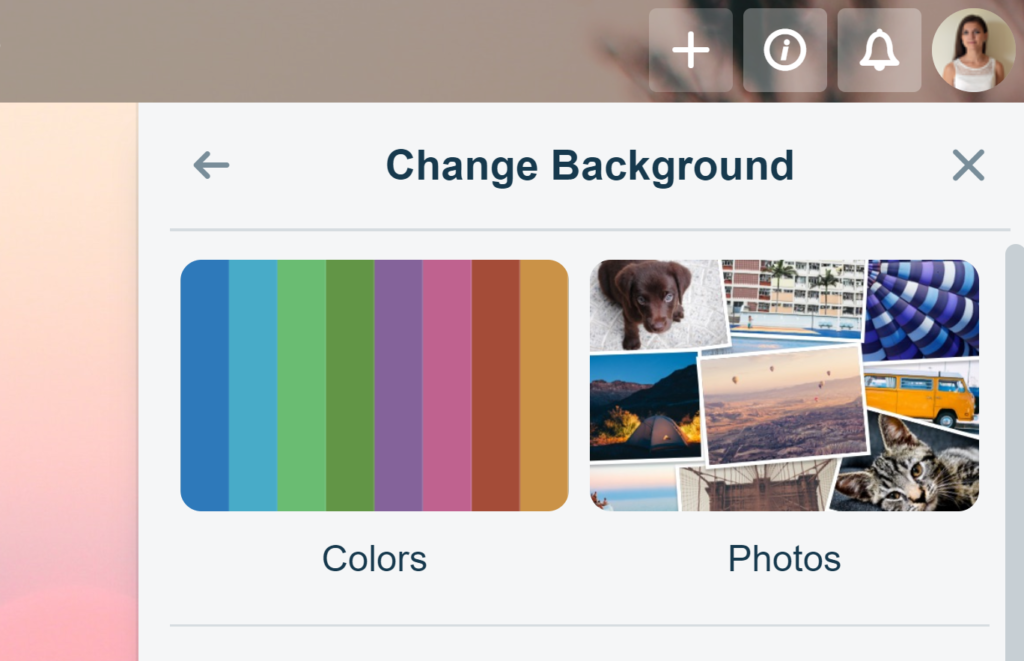 Changing Backgrounds in Trello